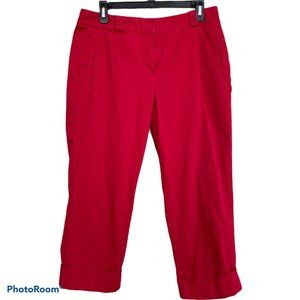 Sando Red Cropped Cuffed Pants Size 10
